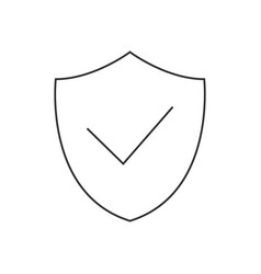 shield with checkmark linear icon on white vector image