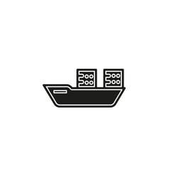 shipping boat - travel icon - cruise boat symbol vector image