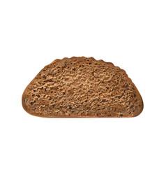 Single bread slice composition vector