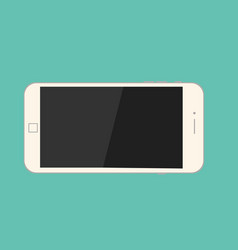 Smartphone on isolate green background mobile vector