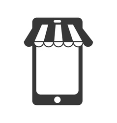 Smartphone store commerce digital vector