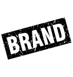 square grunge black brand stamp vector image