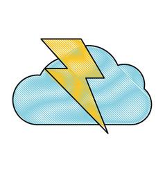 storm electric cloud vector image