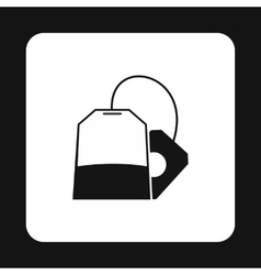 Tea bag icon simple style vector