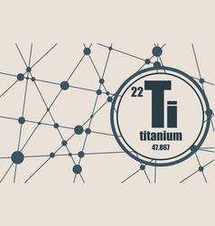 titanium chemical element vector image