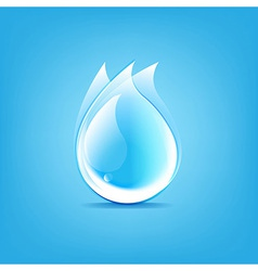 Water Drops Symbol vector image