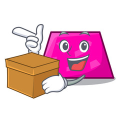 with box trapezoid character cartoon style vector image