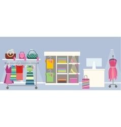 Woman s Clothes Shop Concept vector