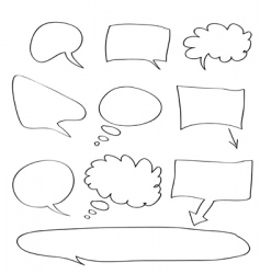 Word bubble vector