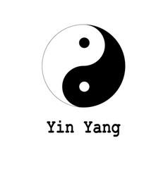 yin yang symbol icon vector image