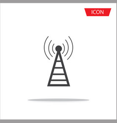 antenna icon symbols on white background vector image