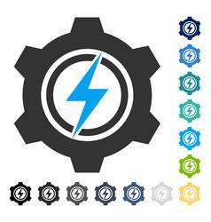Electric cogwheel icon vector
