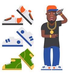 hip hop man accessory musician accessories vector image