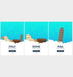 italy time to travel set of travel posters vector image