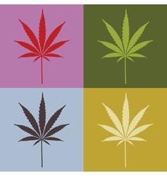 Marijuana leaves vector image vector image