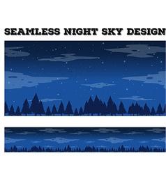 Seamless night sky design vector image vector image