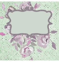 Vintage background flower template EPS 8 vector image