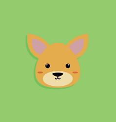 dog cartoon face vector image