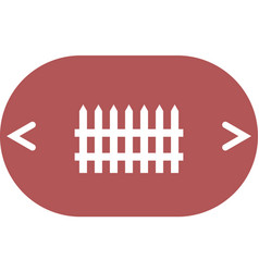simple fence icon vector image