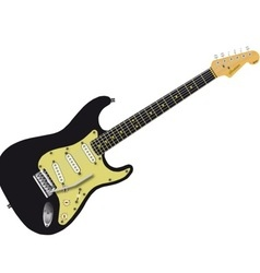 Black Electric Guitar vector image vector image