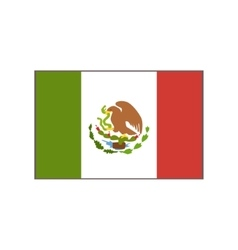 Flag Of The Country Mexican Culture Symbol vector image