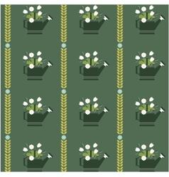 flat flower vintage patterns vector image vector image
