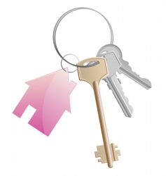 keyring with cottage vector image vector image