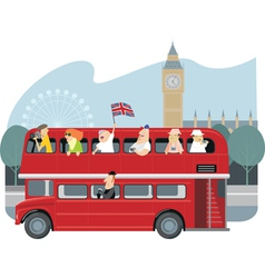 london sightseeing vector image