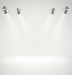 Photorealistic bright stage with spot lights vector