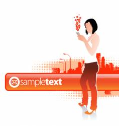 sms vector image vector image