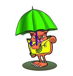 angry cat colored cartoon vector image