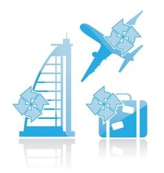 Icon of trip vector image