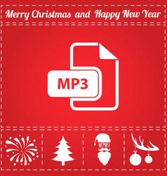 mp3 icon vector image