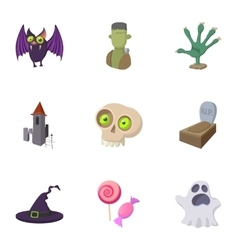 Resurrection of dead icons set cartoon style vector image vector image