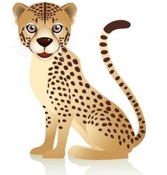 smiling cheetah cartoon vector image vector image