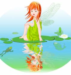 water fairy vector image