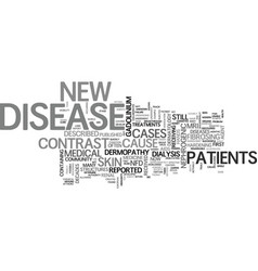 a new disease of the skin text word cloud concept vector image