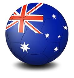 A soccer ball with the flag of Australia vector