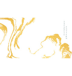 abstract art background with gold foil water vector image