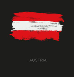 austria colorful brush strokes painted national vector image