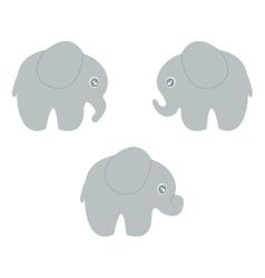 baby elephant set vector image