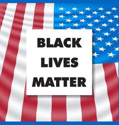 Black lives matter square template vector