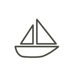 boat icon line ship symbol vector image