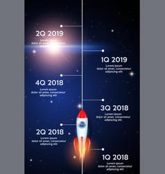 Business concept of timeline roadmap vector
