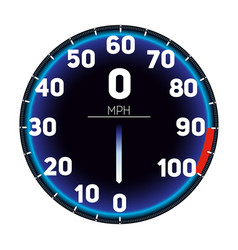 car speedometer dashboard icon vector image