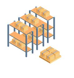 cargo cardboard box flat design delivery service vector image