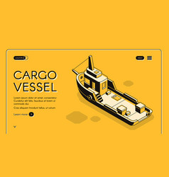 cargo maritime transport company website vector image