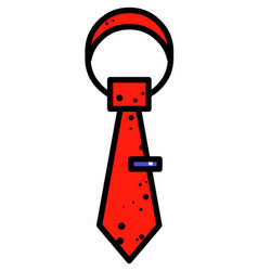 cartoon image of tie icon necktie symbol vector image