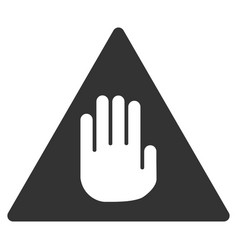 caution flat icon vector image