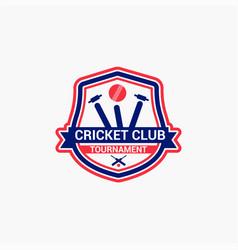 Cricket club badge logo-12 vector